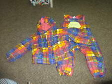 COLUMBIA 18M 18 MONTHS PLAID SNOW PANTS WINTER COAT SNOWSUIT GIRLS