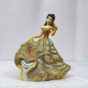 Disney Princess BELLE FIGURINE Sparkle Cake TOPPER Beauty & the BEAST Toy NEW