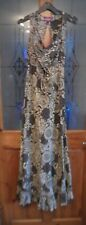 SIZE MEDIUM APPROX 12 NOMADS FAIRTRADE CLOTHING MAXI DRESS MULTIPRINT COTTON