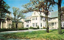 BARRINGTON ILLINOIS BELLARMINE HALL~JESUIT RETREAT HOUSE LAYMEN POSTCARD 1961 PM