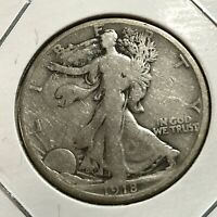 1918-S SILVER WALKING LIBERTY HALF DOLLAR NICE COIN