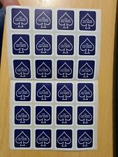 12 x Bicycle Playing Card Box Seals Stickers Blue Magic Gaff Gimmick Sheet USPCC