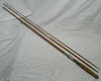 Vintage 8 Foot long Split Bamboo 3 Piece Fly Fishing Rod, Unknown Maker
