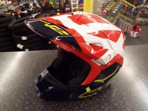 FOX V2 HELMET PREME BLUE/WHITE/RED SMALL MX MOTOCROSS ENDURO