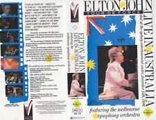 ELTON JOHN AND THE MELBOURNE SYMPHONY ORCHESTRA  VHS PAL VIDEO~A RARE FIND