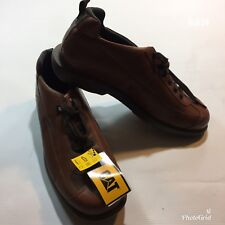 Mens CAT Caterpillar Leather Brown Shoes Size UK 11 New with Tags