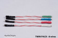 2 x Pure soft annealed Silver Litz Headshell, Cartridge wires , leads, phono