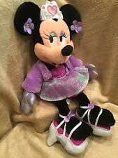 "DISNEY PARKS Minnie Mouse 17"" Plush Stuffed Animal Purple Princesses with Heels"