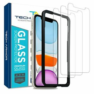 Tech Armor Ballistic Glass Screen Protector for iPhone 11/ iPhone XR 3 - Pack