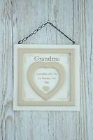 Grandma Wall Plaque Grandma's Like You Are Precious & Few Wood Cream 24cm F1635F