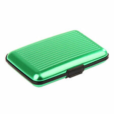 Green Waterproof Credit Business Card Wallet Holder Metal Driving License Case
