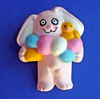 Easter Unlimited PIN Easter Vintage BUNNY Rabbit EGGS Chick Holiday Brooch PINK