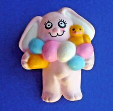 Rabbit Eggs Chick Holiday Brooch Pink Easter Unlimited Pin Easter Vintage Bunny