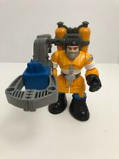 "Rescue Heros Cliff Hanger Grabber Claw Tool Fisher Price 6"" Action Figure"