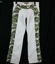 Key Jey Uomo Pantaloni Casual Bianco Mimetico Misura 36