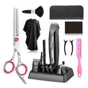 Hair Cutting Scissors Set Mens Beard Trimmer Cordless Hair Trimmer Hair Clipper