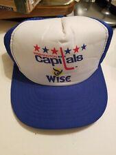 Vintage Washington Capitals Trucker NHL Hockey Hat Cap Wise potato chips