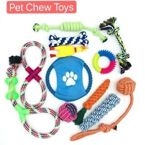 Dog Rope Toys for Aggressive Chew-Set of 12 Nearly Indestructible Dog Puppy Bite