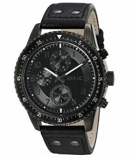 Relic ZR15840 Dillon Black Leather Chronograph Mens Watch