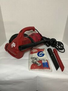 Dirt Devil Ultra Corded Hand Vacuum With Attachment Nozzles and Vacuum Bag