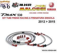 KIT TUBI FRENO IN TRECCIA MALOSSI MHR PER YAMAHA T MAX TMAX 530 ANNO 2012