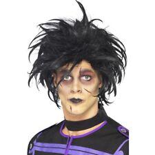 PSYCHO Peluca Negro De Hombre Informal Cabello Halloween Peluca para disfraz
