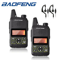 2x Baofeng BF-T1 Mini Walkie Talkie UHF FM 400-470MHz Two-way Radios Transceiver