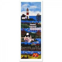 Jane Wooster Scott Springtime Cheer Signed Limited Edition Lighthouse Lithograph