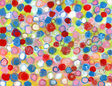 20x30 Print - Abstract Painting Circle Dots Wall Art Print Katie Jeanne Wood