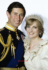 PRINCE CHARLES & PRICESS DIANA A4 GLOSSY PHOTO ROYAL FAMILY 11.75 X 8.25 INCHES