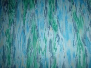 Blue Green Grey Quilting Fabric. Could be Landscape 50cm piece