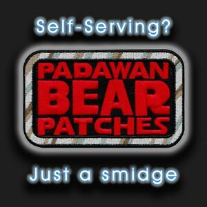 """Kenner Star Wars toy inspired """"PadawanBear Patches"""" logo 4"""" embroidered patch"""
