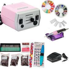 30000 RPM Professional Electric Nail Drill File Bits Machine Manicure Kit-Pink