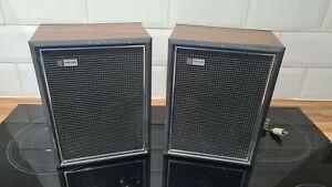 Pair of Vintage Philips 8 ohm SPEAKERS - Retro - Working