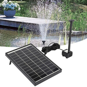 Outdoor Solar Powered Floating Bird Bath Water Fountain Pump Garden Pond Pool 6W