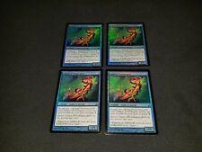 MTG 4x Lorwyn blue uncommon LP - MP French FOIL Silvergill Adept