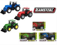 Teamsterz Small Kids Farm Tractor 3 Colours Tractor Toy Farm Play Gift Set