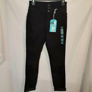 refugee IBIZA Distressed Denim Jeans Stacked Waist Black Various Sizes, New
