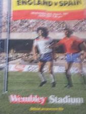 England v Spain, friendly, 1981