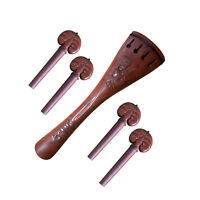 Carving Cello Jujube Tailpiece Pegs fit 4/4 Size Antique Style Carve Tailpiece