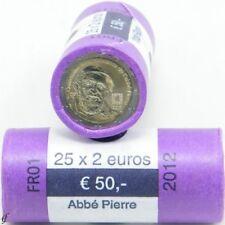Papel 2 euros monedas conmemorativas francia 2012 Abbe
