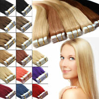 Tape in Grade 8A 100% Virgin Remy Human Hair Extensions 20/60pcs Skin Weft s