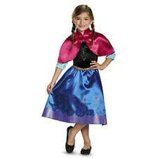 Anna Costume Dress Up Play Time Frozen Costume Halloween Size 4-6x Large