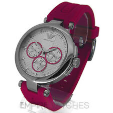 *NEW* LADIES EMPORIO ARMANI PINK RUBBER WATCH - AR0737 - RRP £195