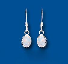 Opale Orecchini Argento Sterling, Ovale Goccia