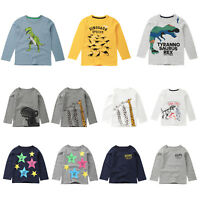 Newborn Infant Baby Boys Kids Long Sleeve T-shirt Tops Child Home Tees Clothes