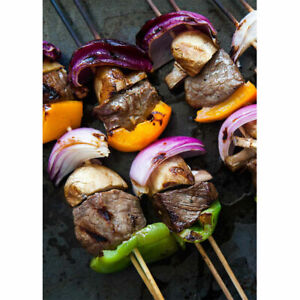 150 x 25cm BAMBOO SKEWERS Wooden Kebab BBQ Fruit Chocolate Fountain Fondue Stick