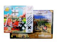 2 Set Lot ~ New COBI Blocks, Romans & Barbarian Catapult / Knights Wall Lego HTF