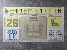 More details for world cup 1978 ticket argentina vs poland @rosario match #26