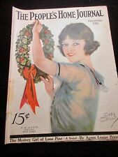 12/1921 PEOPLES HOME JOURNAL MAGAZINE EARL CHRISTY COVER  COLOR ADS FASHION